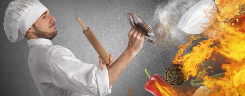Incendio en la cocina